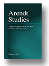 Cover of Arendt Studies