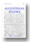 Cover of Augustinian Studies