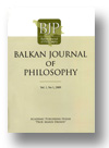 Cover of Balkan Journal of Philosophy
