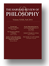 Cover of The Harvard Review of Philosophy