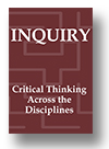 Cover of Inquiry: Critical Thinking Across the Disciplines
