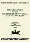 Cover of Proceedings of the Sixth International Kant Congress