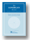 Cover of The Lonergan Review