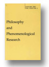 Cover of Philosophy and Phenomenological Research