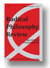 Cover of Radical Philosophy Review