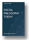 Cover of Social Philosophy Today